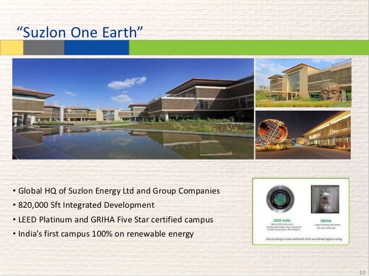 Suzlon One Earth Case Study By Ameya Gumaste