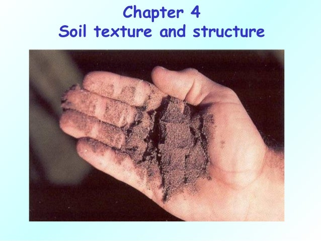 Chapter 4Soil texture and structure