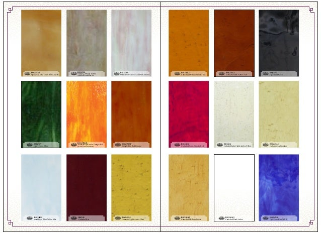Sahara Glass Stained Glass Sheets Color and Style