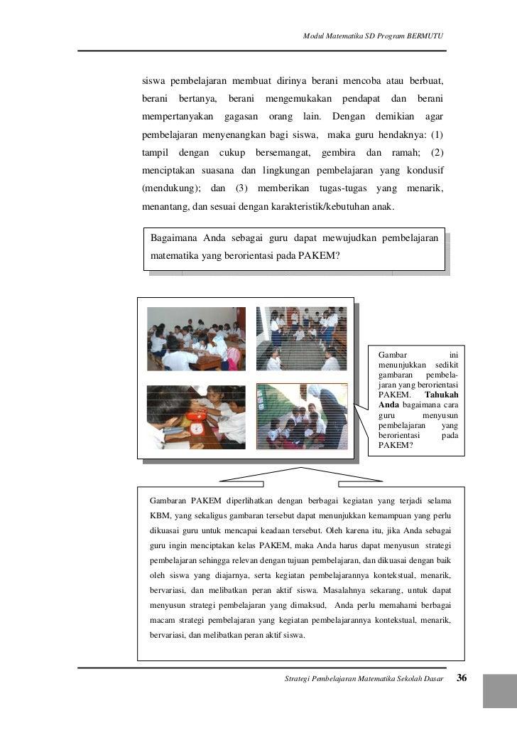 Membuat Media Pembelajaran Matematika Sd Strategi Pembelajaran Matematika Di Sd Kumpulan