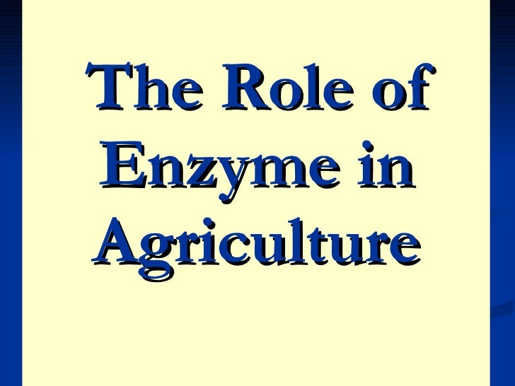 The Role of Enzyme in Agriculture