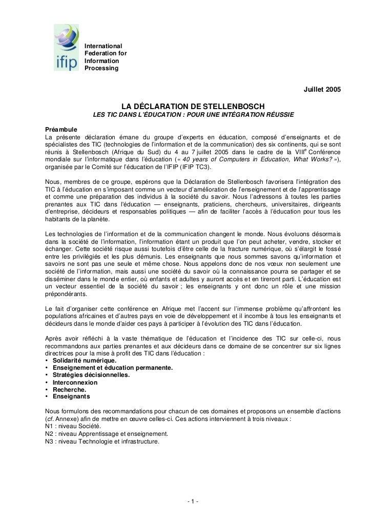 International              Federation for              Information              Processing                                ...
