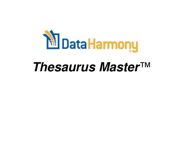 Thesaurus Master™