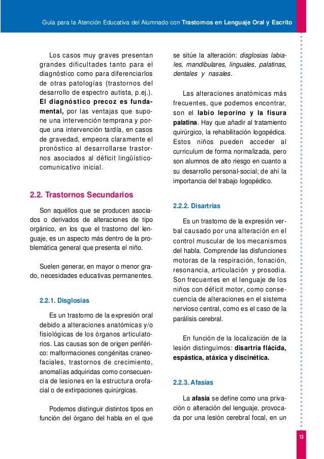 4. trastorno lenguaje oral y escrito
