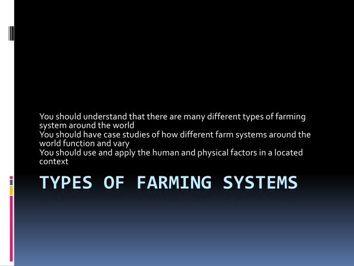4. types of farming systems