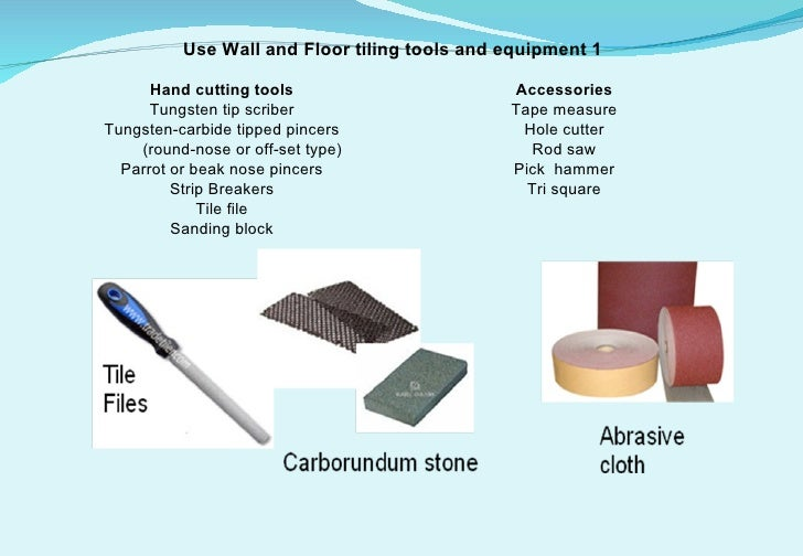 Use Wall And Floor Tiling Tools And Equipment