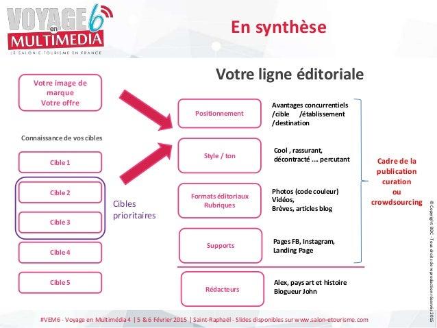 #VEM6 - Voyage en Multimédia 4   5 & 6 Février 2015   Saint-Raphaël - Slides disponibles sur www.salon-etourisme.com Cible...