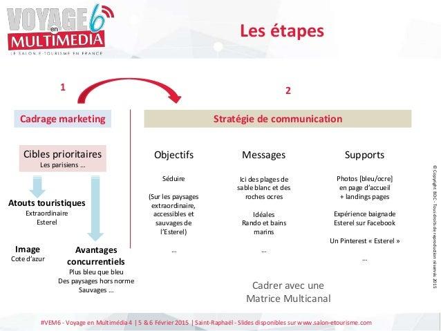 #VEM6 - Voyage en Multimédia 4   5 & 6 Février 2015   Saint-Raphaël - Slides disponibles sur www.salon-etourisme.com Les é...