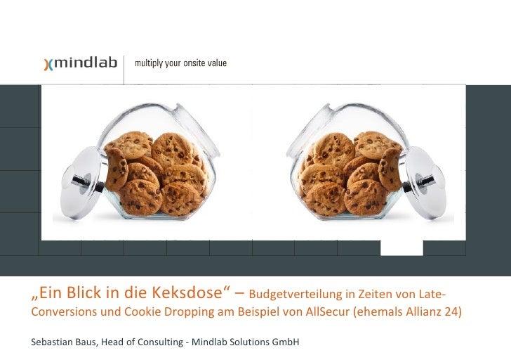 """""""Ein Blick in die Keksdose"""" – Budgetverteilung in Zeiten von Late- Conversions und Cookie Dropping am Beispiel von AllSecu..."""