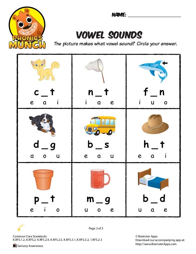Printables Middle Sound Worksheets vowel sounds phonics worksheet