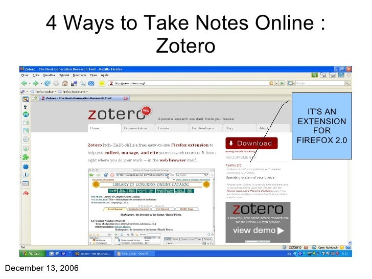 4 Ways to Take Notes Online : Zotero IT'S AN EXTENSION FOR FIREFOX 2.0