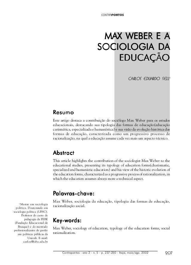 Contrapontos - ano 2 - n. 5 - p. 237-250 - Itajaí, maio/ago. 2002 207 1 Mestre em sociologia política. Doutorando em socio...