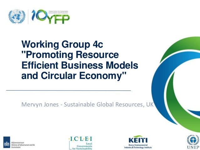 "Working Group 4c ""Promoting Resource Efficient Business Models and Circular Economy"" Mervyn Jones - Sustainable Global Res..."