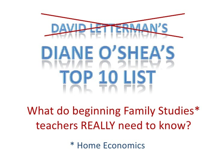 What do beginning Family Studies*  teachers REALLY need to know?         * Home Economics