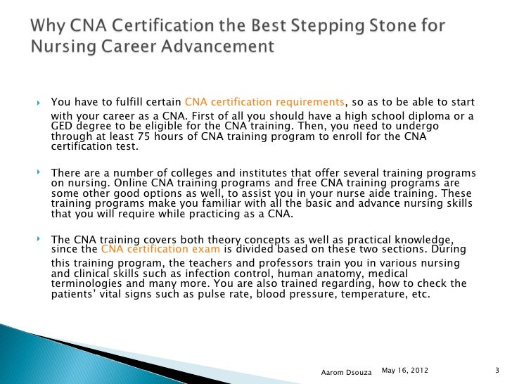 4 Why Cna Certification The Best Stepping Stone For