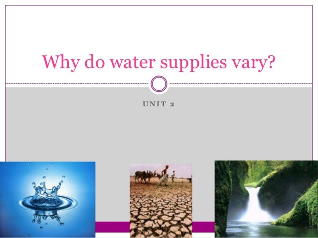 Why do water supplies vary?           UNIT 2