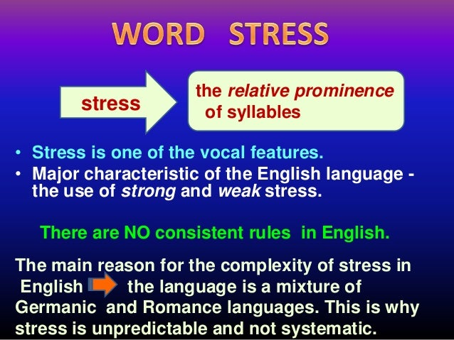 word stress rules ppt