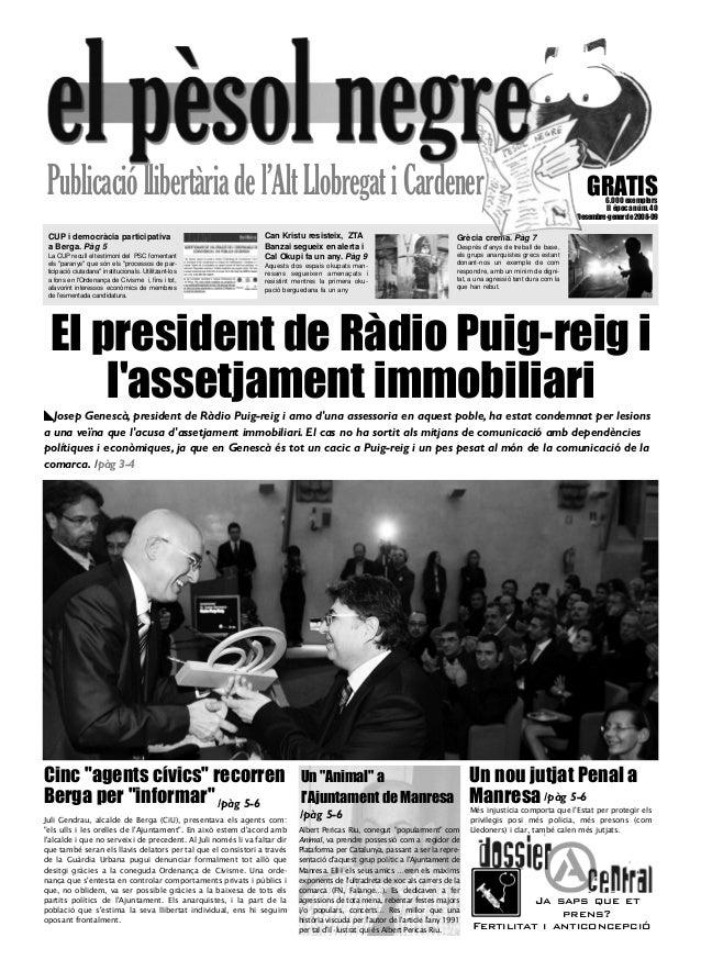 """Publicacióllibertàriadel'AltLlobregatiCardener Cinc """"agents cívics"""" recorren Berga per """"informar"""" GRATIS6.000 exemplars II..."""