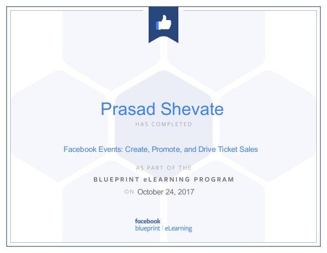 Facebook blueprint certificate facebook events create promote and drive ticket sales october 24 2017 prasad malvernweather Images