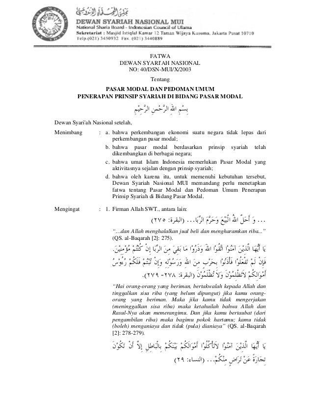 40 Pasar Modal Syariah