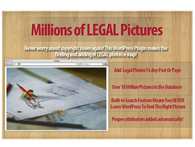 Get Legal With WordPress Photo             Plugin    An Easy Way To Search, Find And  Place Legal Images In Any WordPress ...