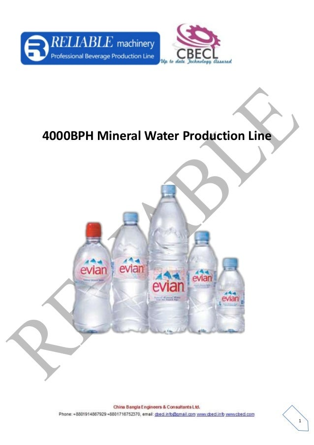 4000 bph mineral water production line cbecl