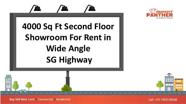 4000 Sq Ft Second Floor Showroom For Rent in Wide Angle SG Highway