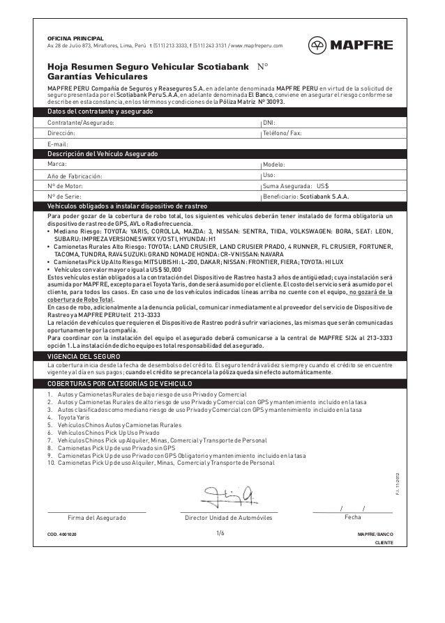 4001020 hoja resumen seguro vehicular scotiabank for Correo ministerio del interior