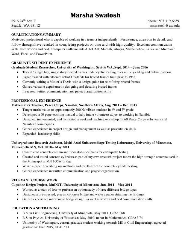 M. Swatosh Resume