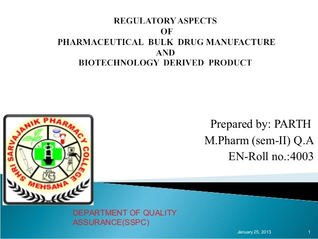 Prepared by: PARTH                        M.Pharm (sem-II) Q.A                            EN-Roll no.:4003DEPARTMENT OF QU...