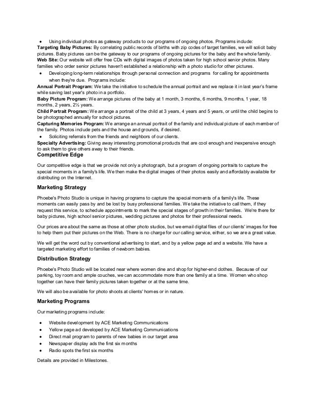 photography business plan doc