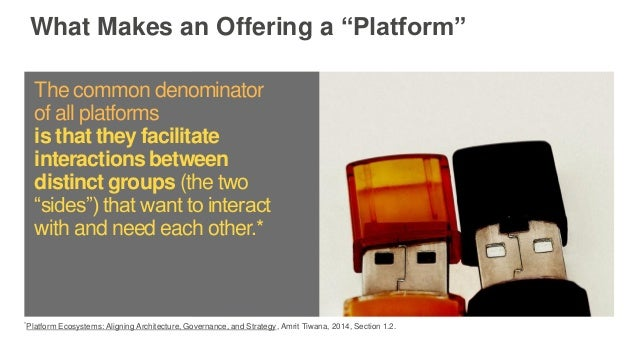 """What Makes an Offering a """"Platform"""" *Platform Ecosystems: Aligning Architecture, Governance, and Strategy, Amrit Tiwana, 2..."""