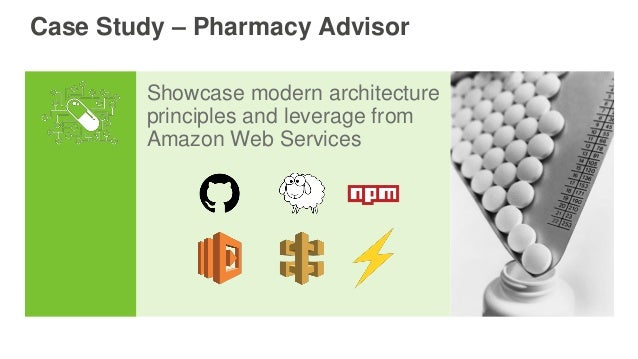Showcase modern architecture principles and leverage from Amazon Web Services Case Study – Pharmacy Advisor