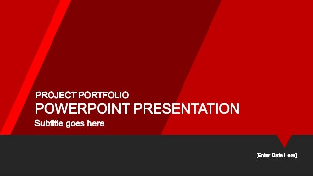 Red portfolio powerpoint template red portfolio powerpoint template basic business premium deluxe 30mo 60mo 90mo 120mo maxwellsz