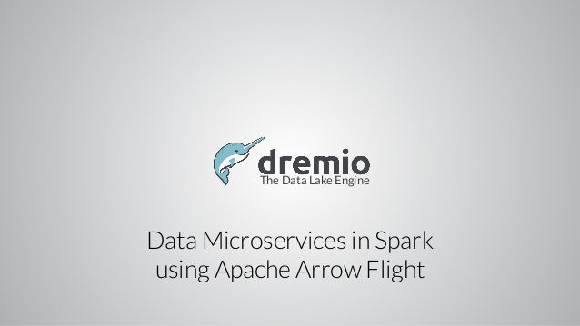 The Data Lake Engine Data Microservices in Spark using Apache Arrow Flight