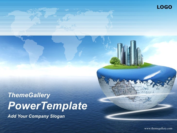 ThemeGallery  PowerTemplate Add Your Company Slogan