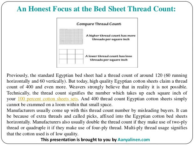 ... 2. An Honest Focus At The Bed Sheet Thread Count: Previously, The  Standard ...