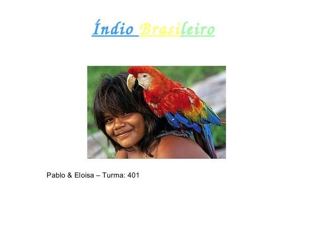 ÍndioBrasileiro Pablo & Eloisa – Turma: 401