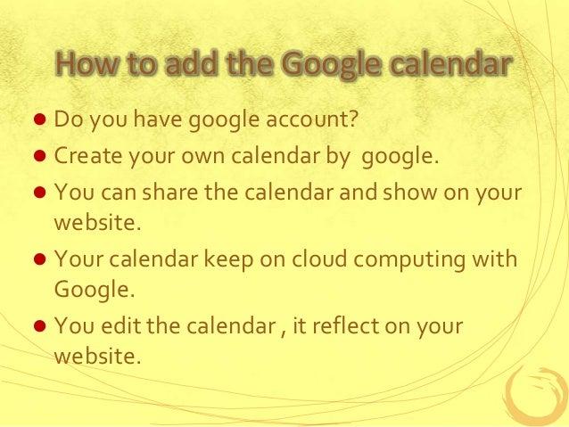 401 how to create google calendar