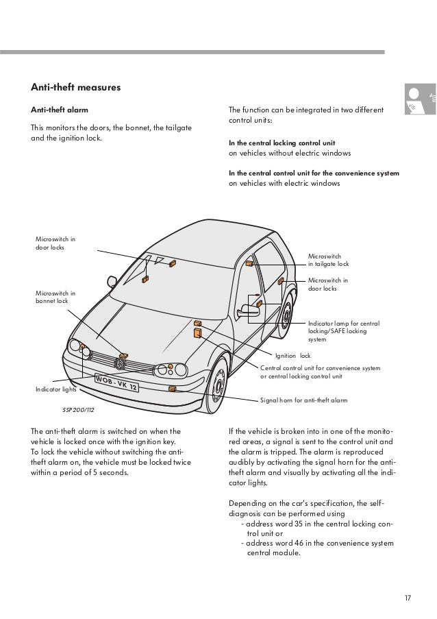 95 vw golf central locking wiring diagram   41 wiring