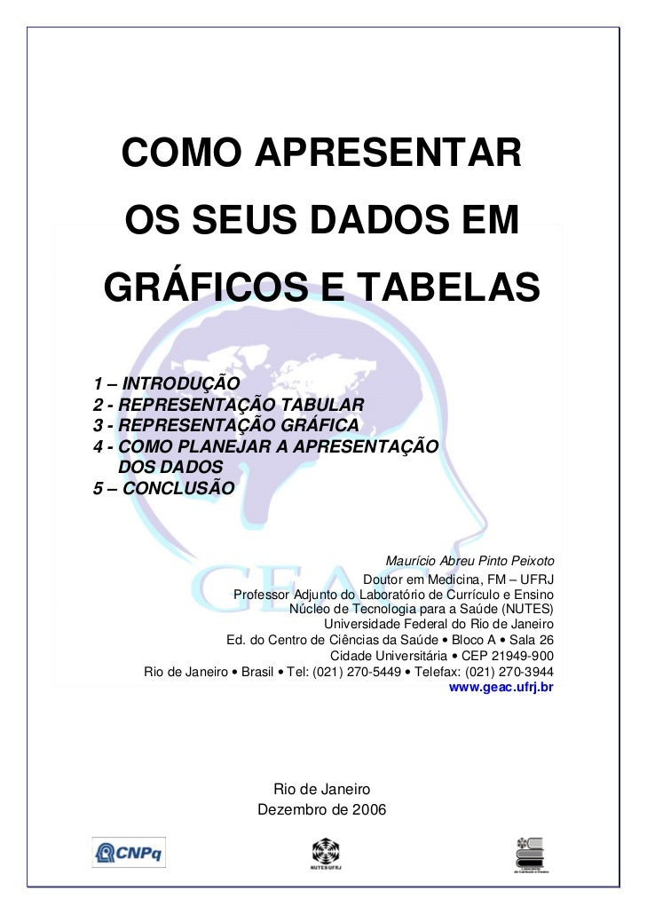 COMO APRESENTAR  OS SEUS DADOS EMGRÁFICOS E TABELAS1 – INTRODUÇÃO2 - REPRESENTAÇÃO TABULAR3 - REPRESENTAÇÃO GRÁFICA4 - COM...