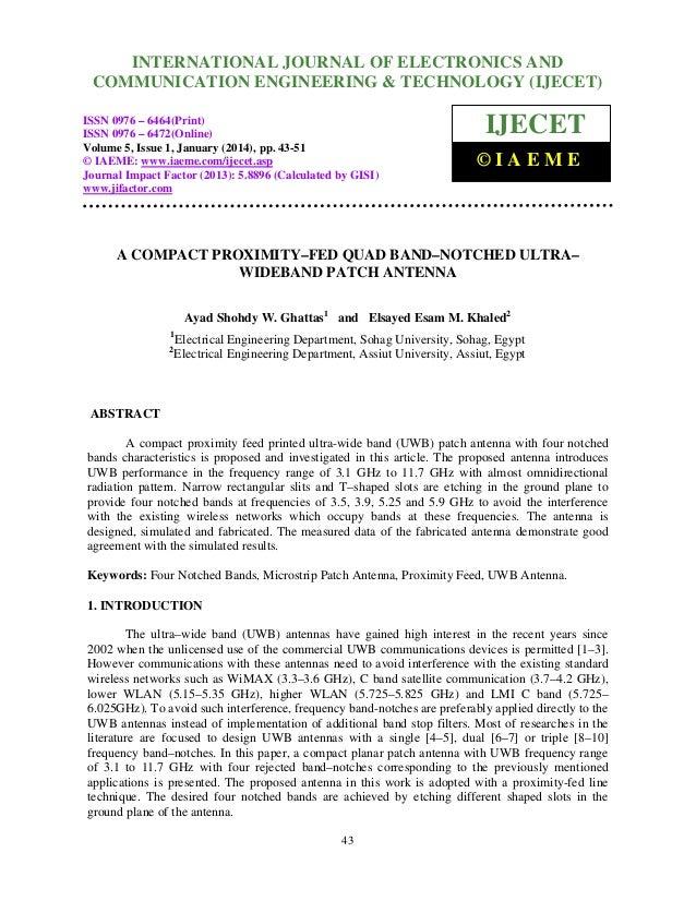 International Journal of ElectronicsJOURNAL OF ELECTRONICS AND INTERNATIONAL and Communication Engineering & Technology (I...
