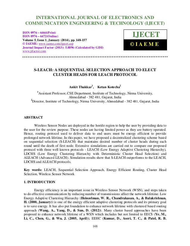 International Journal of Electronics JOURNAL OF ELECTRONICS AND INTERNATIONAL and Communication Engineering & Technology (...