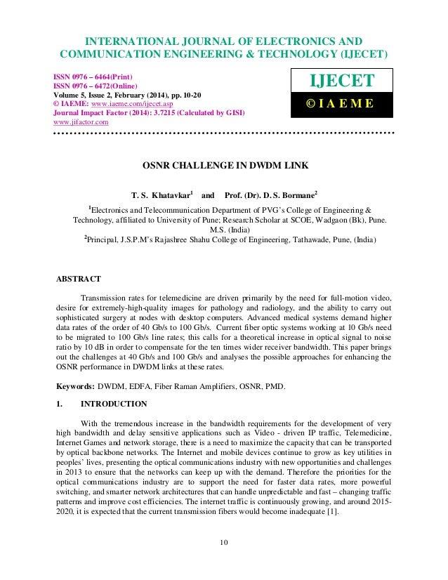 International Journal of Electronics and Communication Engineering & Technology (IJECET), ISSN 0976 INTERNATIONAL JOURNAL ...