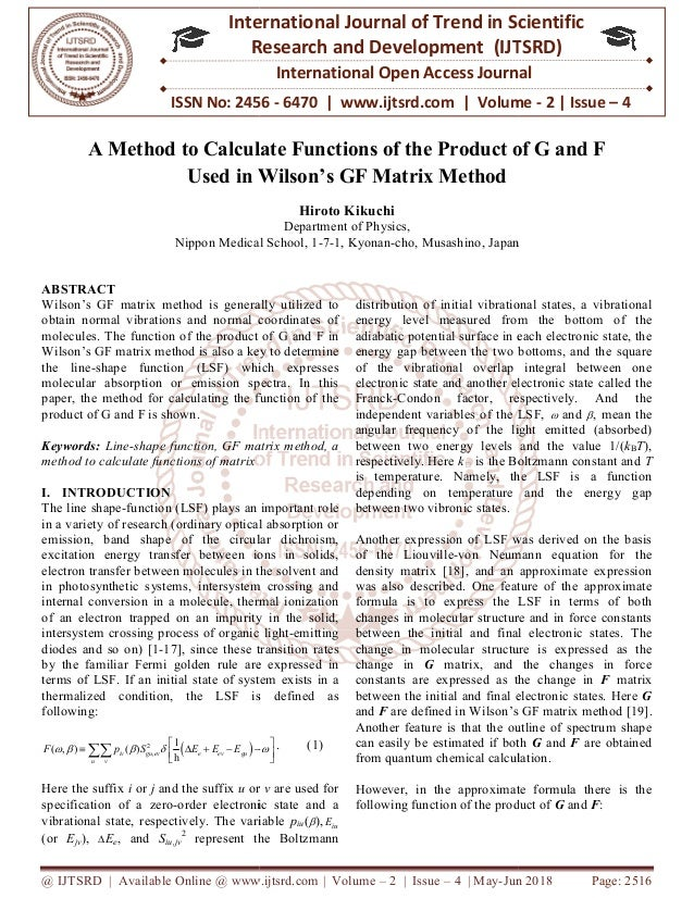 A Method to Calculate Functions of the Product of G and F Used in Wil…