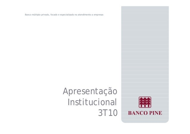 Apresentação  Institucional  3T10