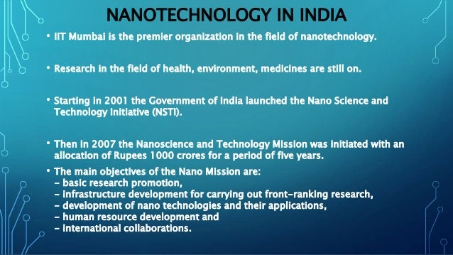 Nanotechnology And Its Applications