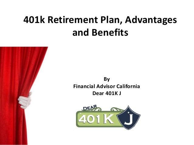 advantages and disadvantages 401k plan to Benefits and disadvantages of roth 401(k) plan roth 401(k) is a retirement savings plan which combines the features of roth ira and a traditional 401(k) if you are expecting an increase in tax rate when you retire, then roth 401(k) plan is likely to be beneficial as the tax distributions after the maturity age will not be taxable.