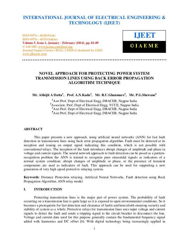 International Journal of Electrical Engineering and (IJEET), ISSN 0976 INTERNATIONAL JOURNAL January Technology(2014), ©EN...