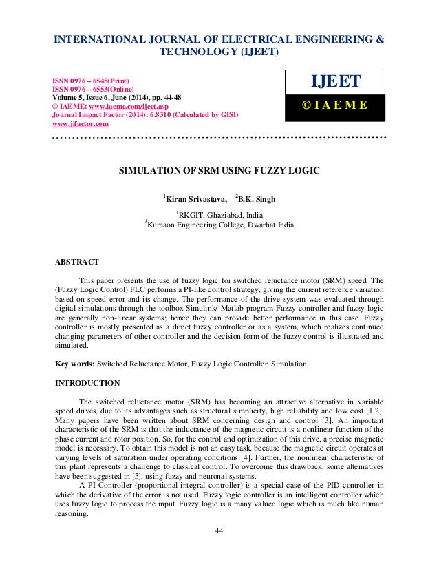 International Journal of Electrical Engineering and Technology (IJEET), ISSN 0976 – 6545(Print), ISSN 0976 – 6553(Online) ...